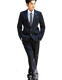 MICHIKO LONDON (ミチコロンドン) 2471-5622 サテンのトリミングジャケットとクレリックシャツのフォーマルセットスーツ 卒業式 男の子