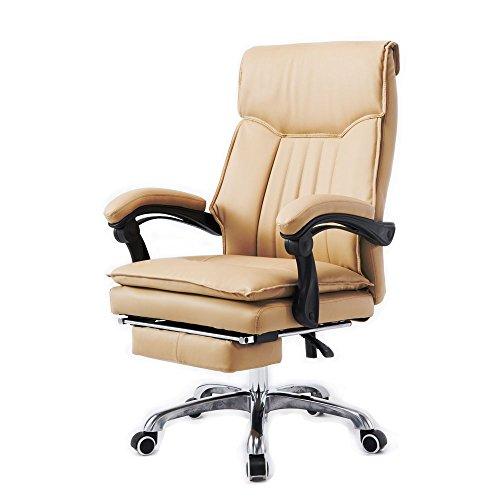 牛本革 オフィスチェアー エアープレジデント (ベージュ)-903BERR- 社長椅子 160度リクライニング リクライニングチェア オットマン パソコンチェアー オフィスチェア パソコンチェア デスクチェア