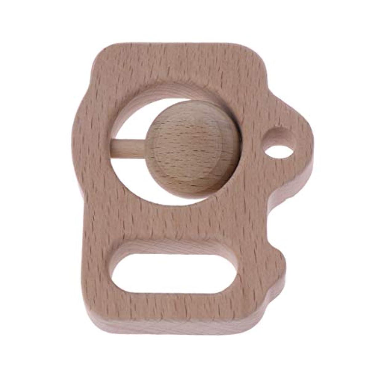 リンク可塑性ルビーランドウッドティーザーカメラガラガラユーカリティーザー赤ちゃん看護玩具かむ玩具歯が生えるガラガラおもちゃ