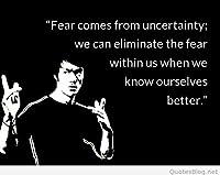 Fear Comesから不確実性。。。ブルース・リーの引用符ポスター12x 18インチ