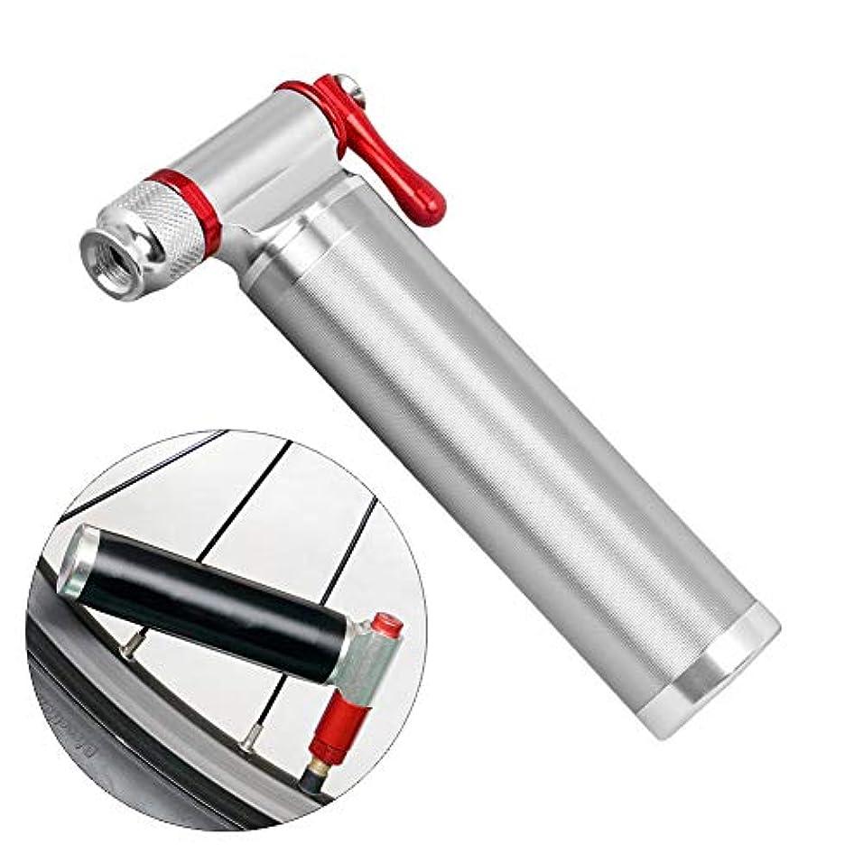 キャンバス例示する多用途ロードマウンテンバイクタイヤポンプ、ミニ伸縮チューブアルミ合金ポンプ、マウンテンロードバイク、自転車ポンプ、アルミ合金スレッド屋外二酸化炭素緊急空気管