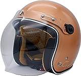 ダムトラックス(DAMMTRAX) バイクヘルメット ジェット フラッパージェット ファイナリー パールブラウン レディースサイズ (56cm-57cm未満) one_size