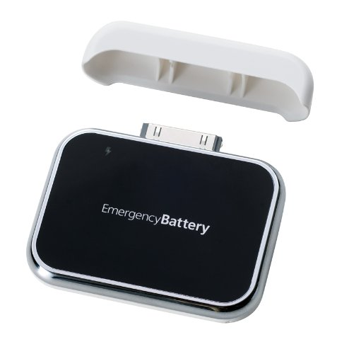 Simplism iPod iPhone用乾電池式充電アダプターホワイト EmergencyBattery for iPod iPhone White ポータブル充電器 TR-EBI-WT