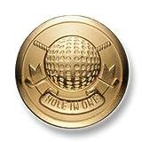 ブレザー ・ ジャケット 用 高級 メタル ボタン < ゴルフ > EX-74-G ゴールド 21mm [ EXCYメタルボタンコレクション ]