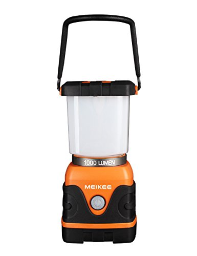 MEIKEE 電池式1000ルーメン LEDランタン 超高輝度昼白色と電球色 4つ点灯モード 連続点灯最大25時間 防水仕様 アウトドア キャンプ 登山 釣り 夜間の愛犬の散歩