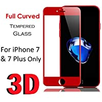 Tuaha iPhone 7 Full Coverageプレミアム強化ガラススクリーンプロテクターFull Glass互換(iPhone 7 Red)[4.7}