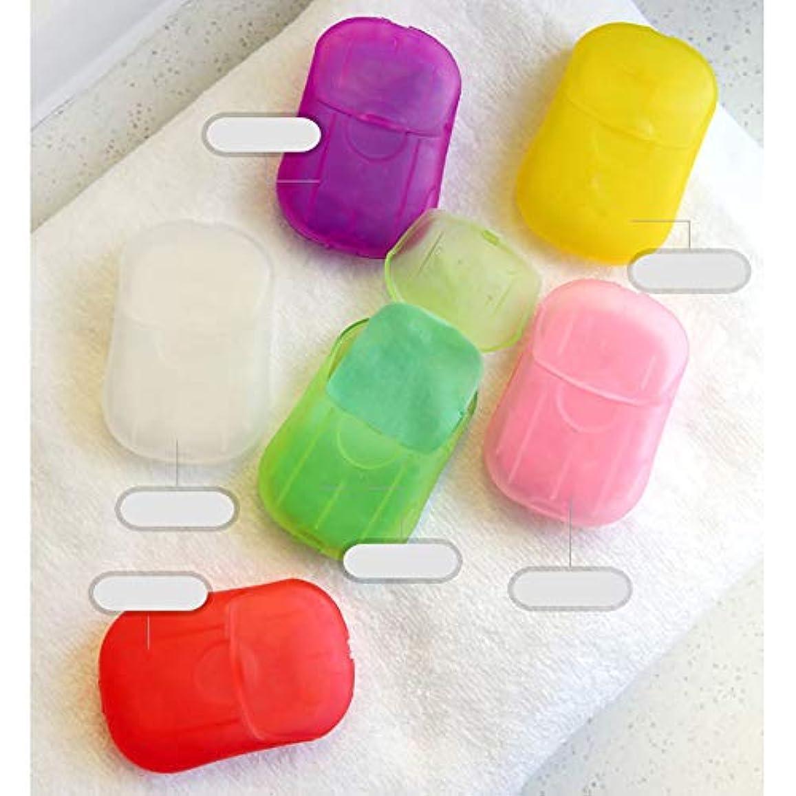 アルカイックリズム二度LULAA ペーパーソープ 紙せっけん 携帯用 ハンドソープ 手洗い 持ち運び 便利 持ち歩き 遠足 お出かけ アウトドア ケース入り 外遊び 砂場 旅行 洗濯にも 6つの香り 6個セット