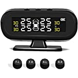 SODIAL Smart Car Tpms Aromatherapy Tyre Pressure Monitoring System Solar Power Digital LCD Display Auto Security Alarm Systems Tyre Pressure