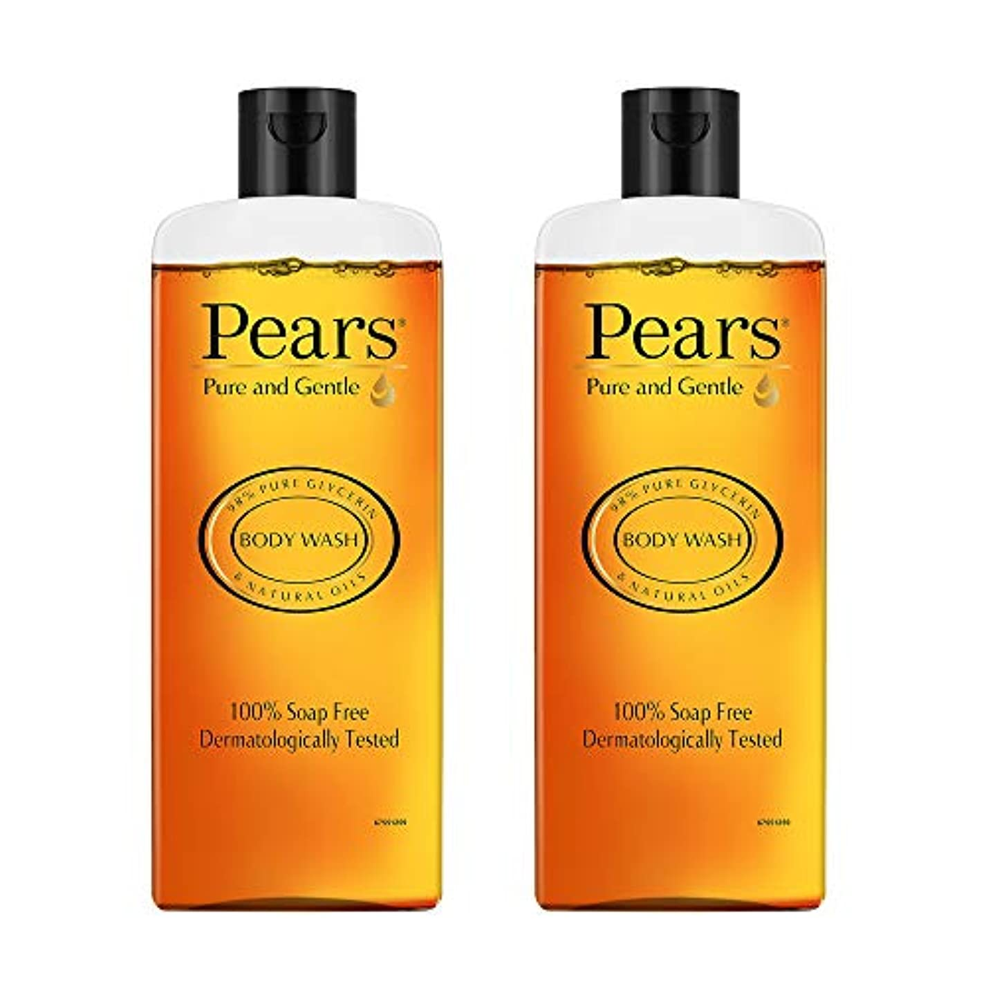 ホットくるみ側Pears Pure And Gentle Body Wash, 250ml (Pack Of 2)
