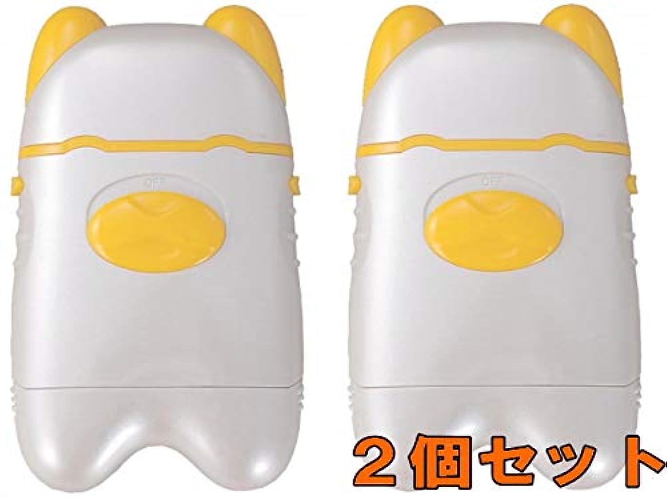 シール代わりにを立てるむしゃむしゃ【2個セット】電動爪切り EL-40191 爪削り ネイルケア