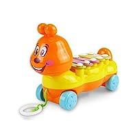 おもちゃを引っ張って幼児はロープを引っ張る動物のおもちゃをドラッグ早期教育玩具赤ちゃんの子ども6ヶ月-3歳(子犬)