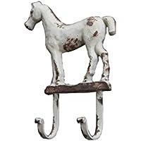 クリエイティブコートフックウォールコートラックの馬の形鍛鉄製の装飾フック