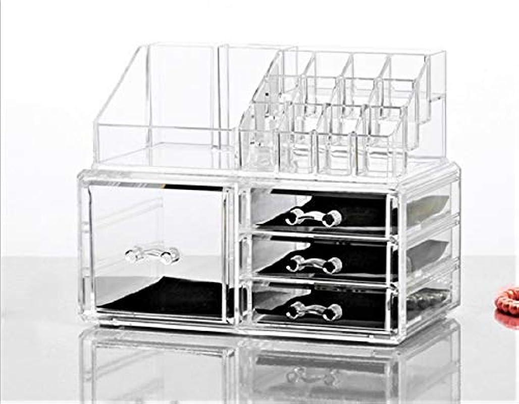 カレンダーウォルターカニンガム期間Neolly 化粧品収納ケース メイクケース コスメ収納ボックス 化粧品入れ 収納スタンド 引き出し小物 卓上収納 組合せ式 アクセサリー 防塵 アクリル製 5引き出し 透明