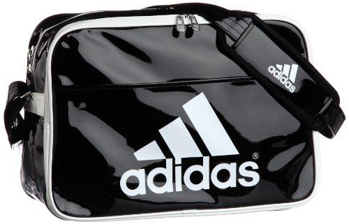 [アディダス] adidas エナメル ショルダーL Z7679 Z52752 (ブラック/ホワイト/ホワイト)