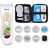 Birmirth Electric Baby Hair Clippers Kits with Accessories Storage Bag Fully Washable Waterproof Rechargeable Quiet Electric Hair Trimmer with Guide Combs Cordless Haircut Kit for Kids Infants Toddler
