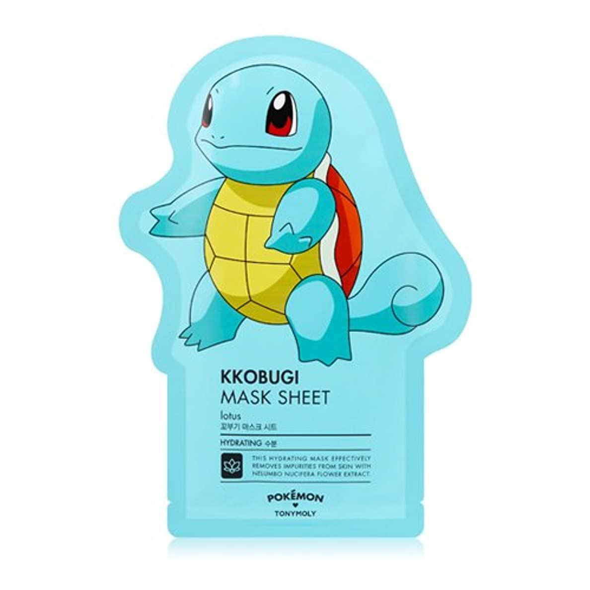 苦情文句カジュアル傑作(3 Pack) TONYMOLY x Pokemon Squirtle/Kkobugi Mask Sheet (並行輸入品)