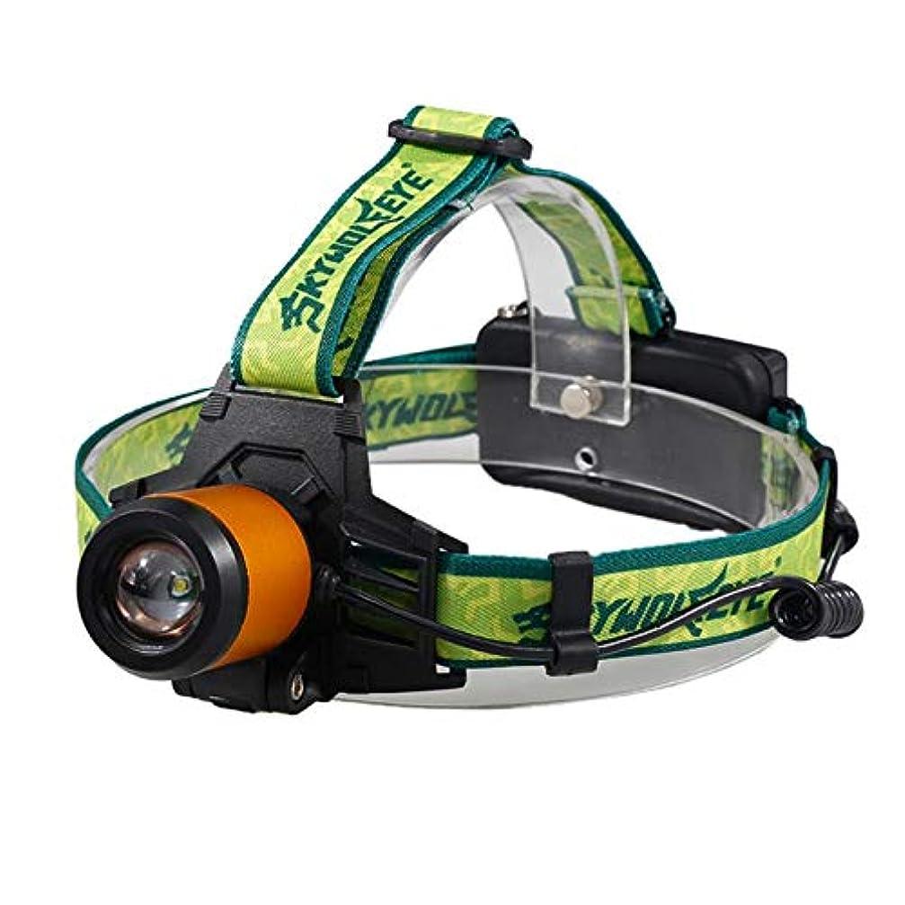 気づくなる期限切れ安定しましたヘッドライト LEDヘッドランプ 高輝度 ズーム式 300ルーメン 3点灯モード USB充電式 防水 角度調節可能 防災 夜釣り 登山 工事作業用 電池なし ゴールド DOMO