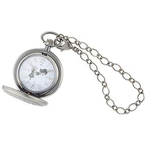 [フィールドワーク]Fieldwork 懐中時計 キーチェーンウォッチ ラーンド アナログ表示 蓋付き アンティーク シルバー ASS099-3