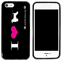 rikki knight cell phone case for apple iphone 5 5s black i love