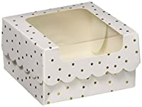 Sweet Sugarbelle (スウィートシュガーベル) ボックス Storage Single クッキー ボックス White Gold Dot (4 個) 374550