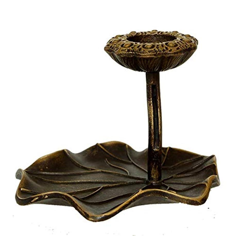 表示マーカー実験逆流香バーナー、ロータス香煙コーンアロマバーナーホルダーストーブ家の装飾のための逆流香炉の装飾(銅)