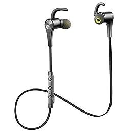 SoundPEATS(サウンドピーツ) Q12 Bluetooth イヤホン 高音質 マイク付き マグネット搭載 スポーツ ブルートゥース イヤホン ブラック
