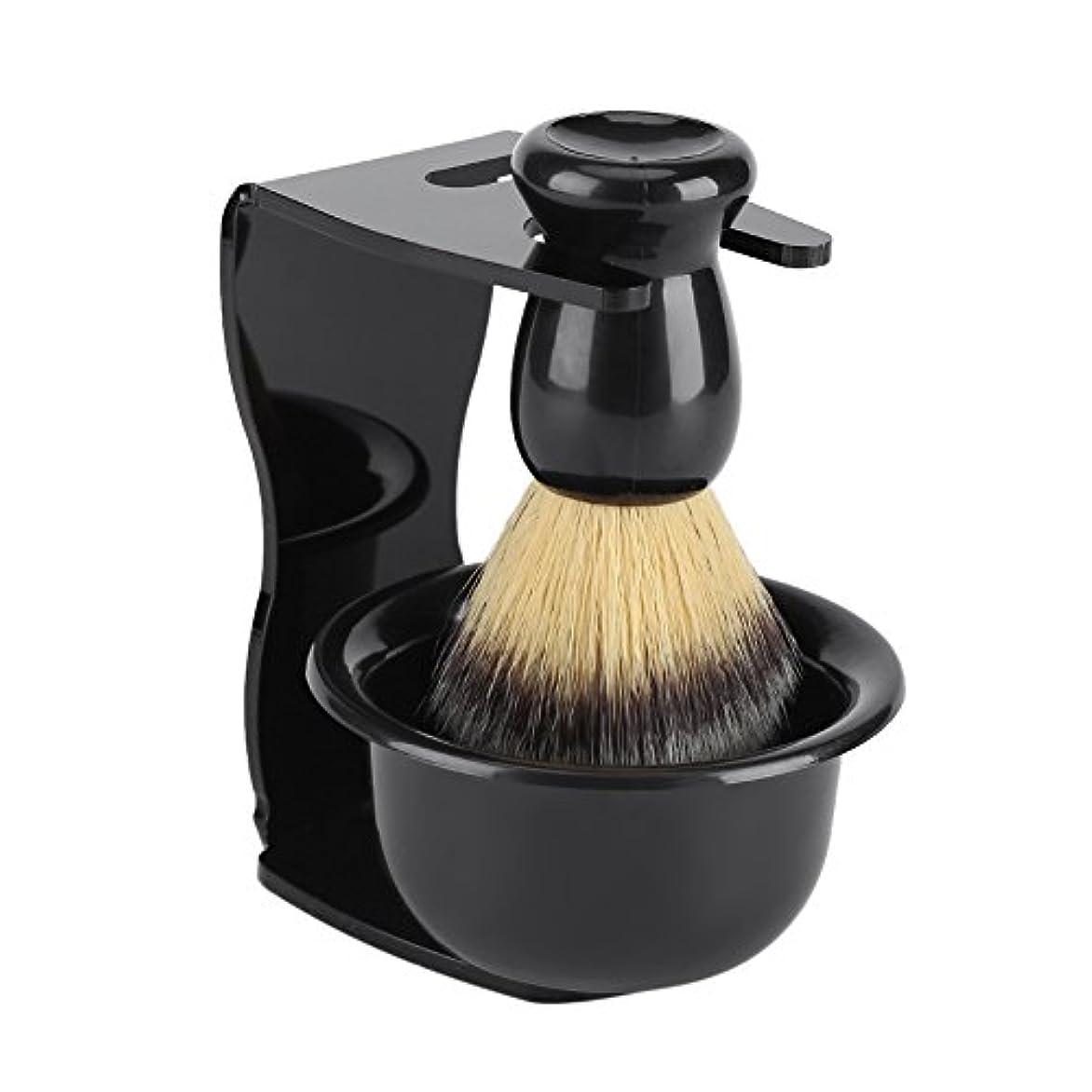 巨大な割る味付けシェービングブラシ 3点セット 純粋なバッガーヘアシェービングブラシ プロフェッショナルメンズ 洗顔 髭 剃り 泡立ち 洗顔ブラシ シェービングブラシ スタンド ホルダー ボウル