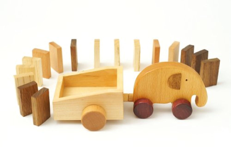 【ノーブランド品】 知育玩具 木のおもちゃ エレファントドミノ