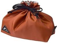 サブヒロモリ エモルト コーティングランチ巾着 オレンジ