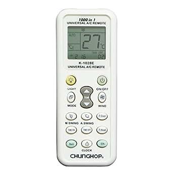 Hanwha / K-1028E 国内外 合計1000種類のエアコンコードを内蔵した エアコン用 ユニバーサル マルチリモコン [詳細日本語マニュアル付][エアコン 汎用 リモコン]