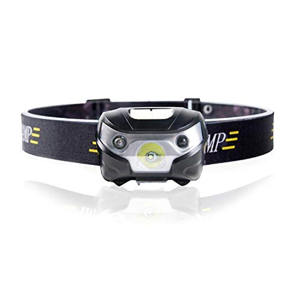 居住者敬ロードハウスChamsaler ヘッドライト USB充電式 LED センサー感応機能 コンパクト 自由に角度を調整 ヘッドランプ 最高照度 防水 アウトドアライト 小型軽量 夜釣り ハイキング キャンプ サイクリング 登山 防災 非常時用