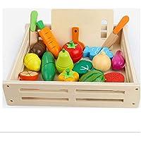 木製おままごとセット おもちゃ 木製玩具 磁石 収納 切れる 野菜果物セット さかな まな板 包丁 ピーラー ごっこ遊び 木のおもちゃ 17個セット 木箱入り