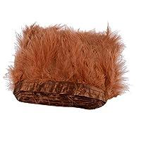 トリム 手芸 羽毛 フェザー フリンジトリム 縫製装飾 DIY装飾 素材 褐色