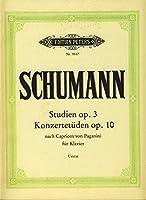"""SCHUMANN - Estudios de Concierto """"Paganini"""" Op.3 y 10 para Piano (Urtext) (Kohler)"""