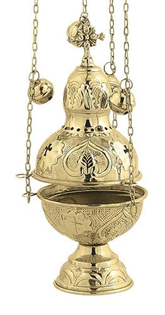 知事交流するギャラントリー真鍮Christian教会Liturgy Thurible香炉香炉( 9394 B )