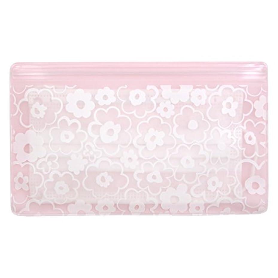 コンソールインタビュー防止抗菌マスクケース Wポケット 花柄ピンク いやあらっくす