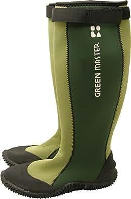 グリーンマスター2620 雨靴 長靴 green master ガーデニングシューズ ガーデンブーツ (L(26.0-27.0cm), グリーン)