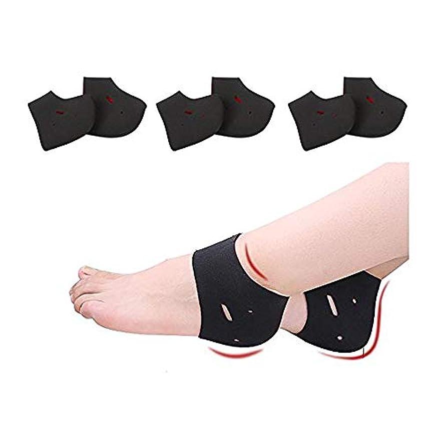 置くためにパック消毒剤バター3足セットとサポーター 両足用 フリーサイズ 角質ケア かかと靴下
