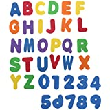 Toyvian 36pcs Sponge Foam Letters and Numbers Tub Bath Toy Swimming Play Early Development Infant Preschool Toy Set for Newborn Baby