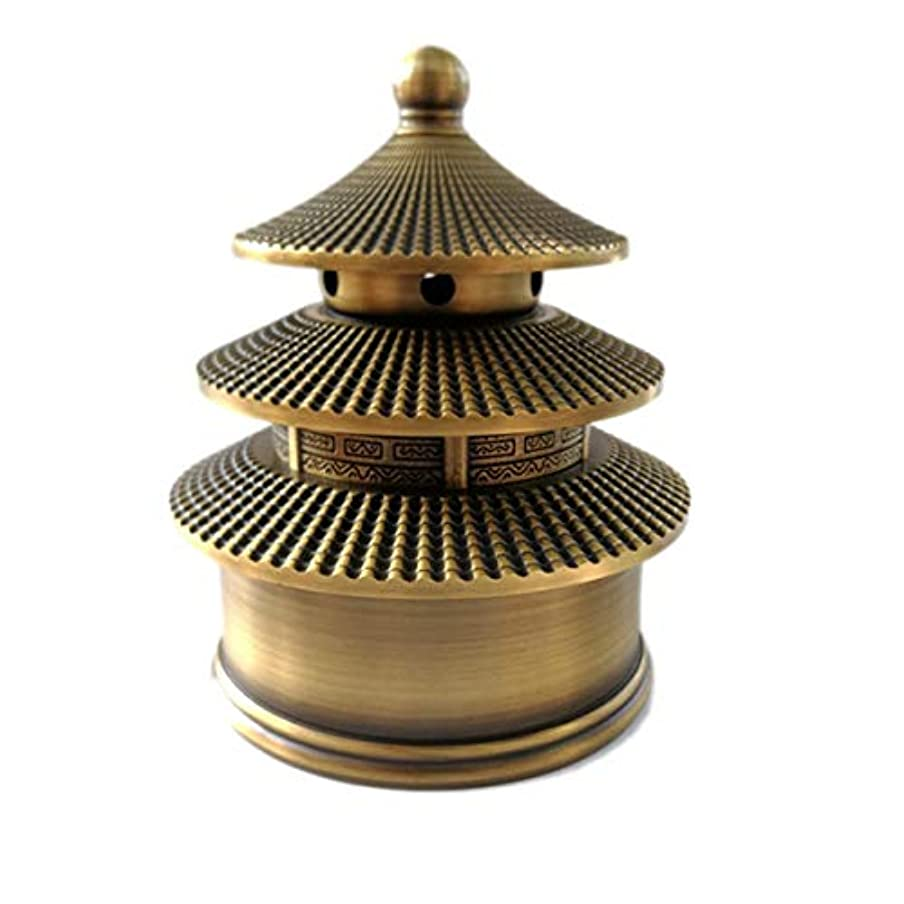 説明上向きひいきにする真鍮香炉(富&幸運)お香バーナー-お香ホルダーを含む中国の古典的なスタイルの伝統的な技術