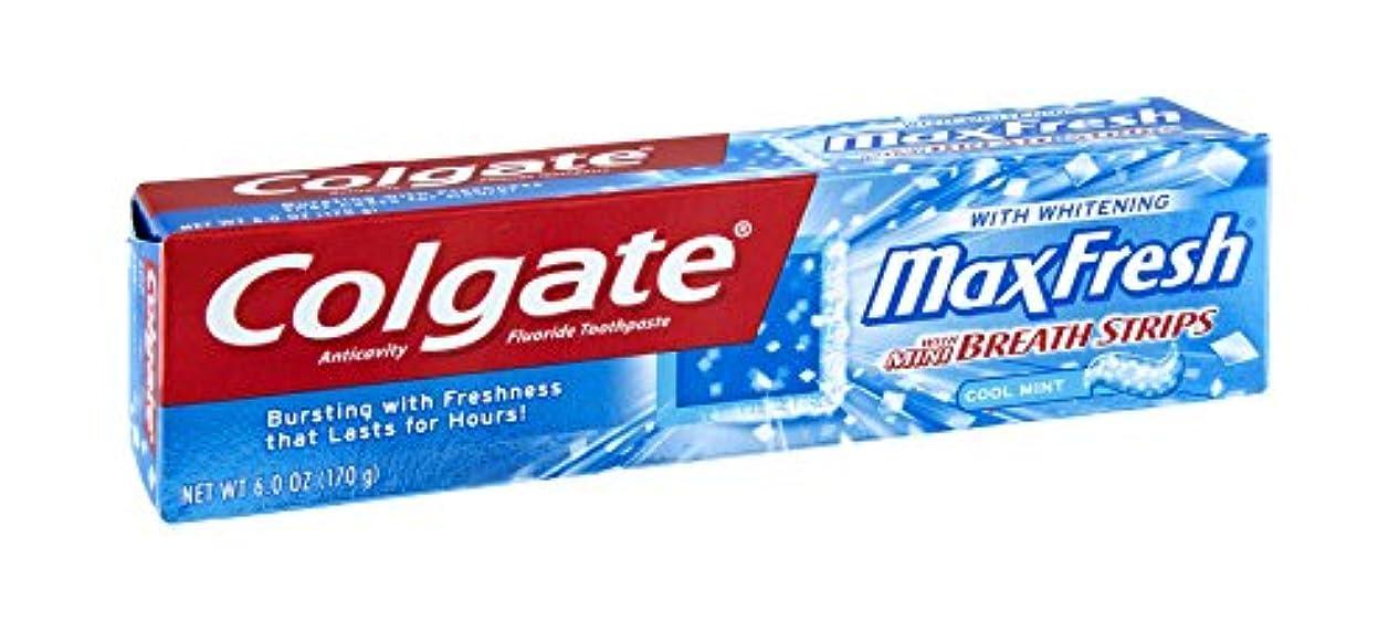 息を切らして静かにボトルColgate Max Fresh Toothpaste with Mini Breath Strips, 6 Ounces (Pack of 6) by Colgate