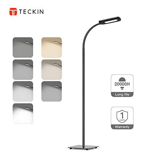 フロアライト LEDフロアランプ TECKIN 目に優しいタッチセンサーで4段階調光&3段階調色フロアスタンド 仕事/読書ランプ 照明器具 インテリア 和風 北欧風