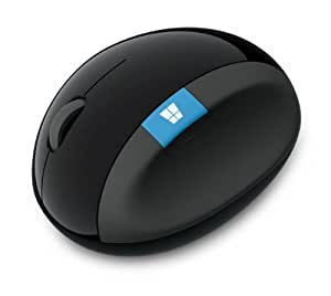 マイクロソフト ワイヤレス マウス 人間工学 高精細読み取りセンサー Sculpt Ergonomic Mouse (ブルートラック) L6V-00013