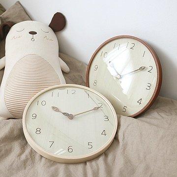 掛け時計 ハンドメイド 300ウッド 木の葉 木製掛け時計 振り子時計 壁掛け時計 おしゃれ 掛時計 北欧 時計 インテリア (ナチュラル)