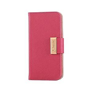 エレコム iPhone7ケース [iPhone8対応] ソフトレザーケース 女子向け マグネット スナップ 手帳型 ピンク PM-A16MPLFBMPN