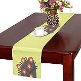 GGSXD テーブルランナー かわいい ハリネズミ クロス 食卓カバー 麻綿製 欧米 おしゃれ 16 Inch X 72 Inch (40cm X 182cm) キッチン ダイニング ホーム デコレーション モダン リビング 洗える