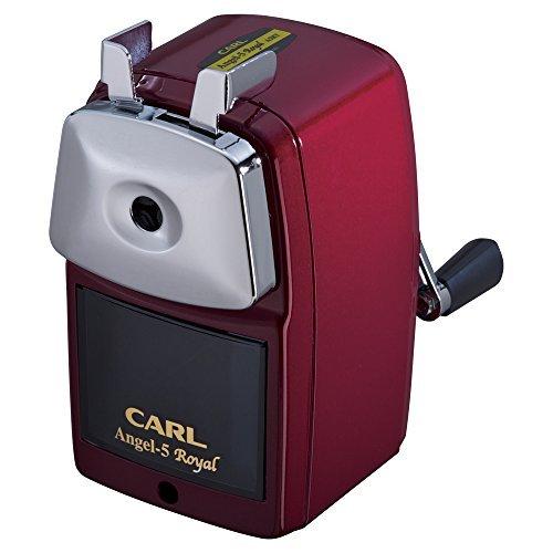 カール事務器 手動鉛筆削器 エンゼル5ロイヤル赤 A5RY-R 00018429 【まとめ買い3台セット】