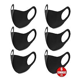 CORKAS マスク 黒マスク 個包装 花粉99%カット 繰り返して使用可 水洗い可 6枚入