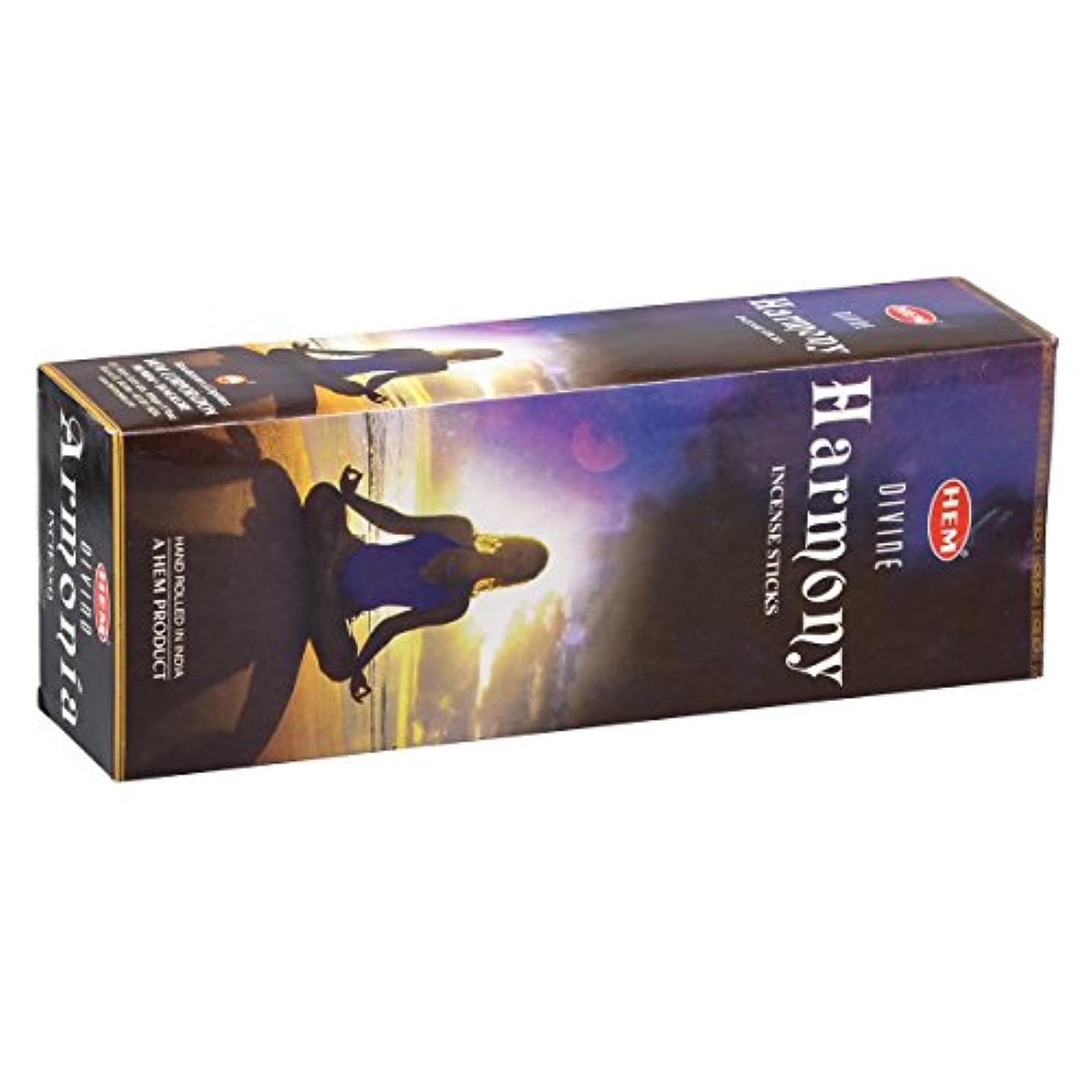 副産物外向きトランスペアレントHEM(ヘム) ハーモニー HARMONY スティックタイプ お香 6筒 セット [並行輸入品]