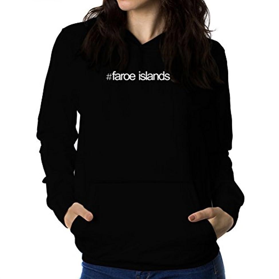 トライアスロン誰もハンバーガーHashtag Faroe Islands 女性 フーディー